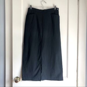 Vintage Gucci Black Long Straight Skirt w/ Pockets